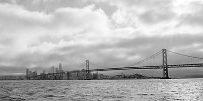 San Francisco Bay Bridge bw