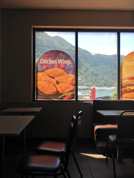McDonald's in American Samoa view of the bay