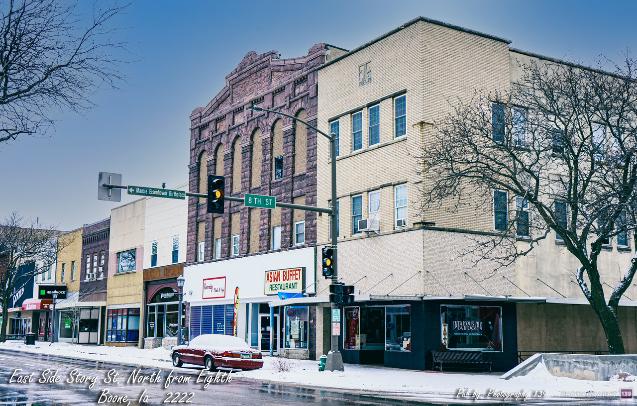East Side Story Street North from Eighth - Boone, Ia 2222 - Redux