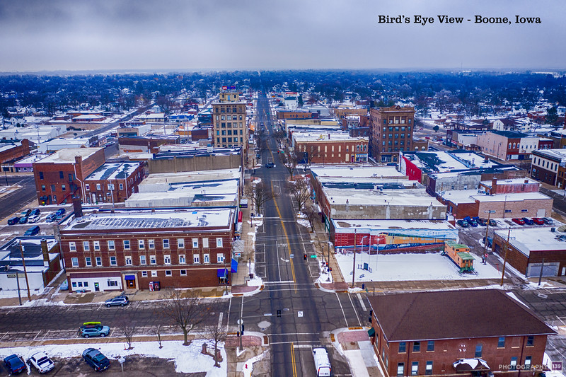 Bird's Eye View of Boone, Iowa - Modern Interpretation
