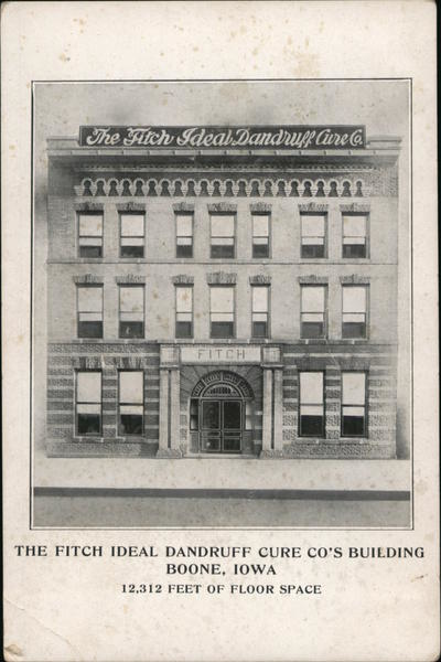 The Fitch Ideal Dandruff Cure Co's Building Postcard Original