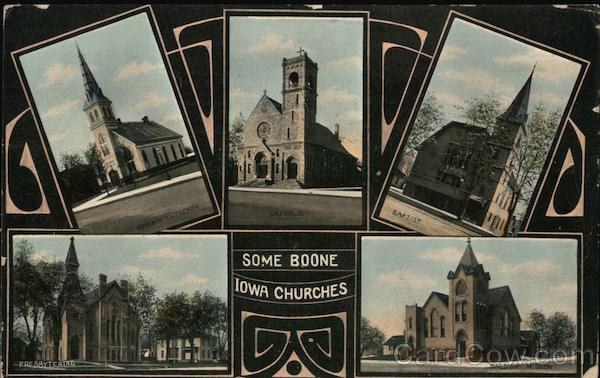 Some Boone Iowa Churches - Original