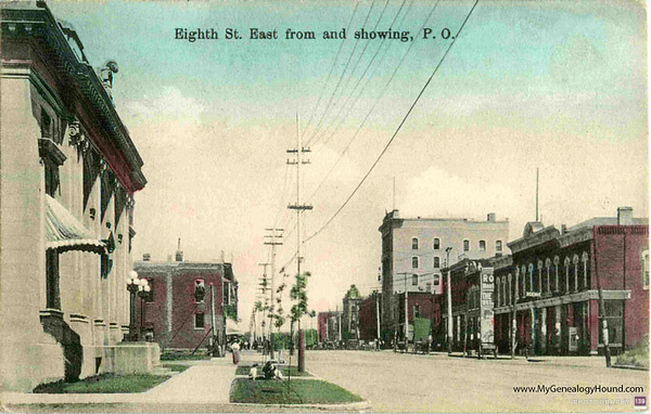 Eighth St. East from and showing, P.O. - Original