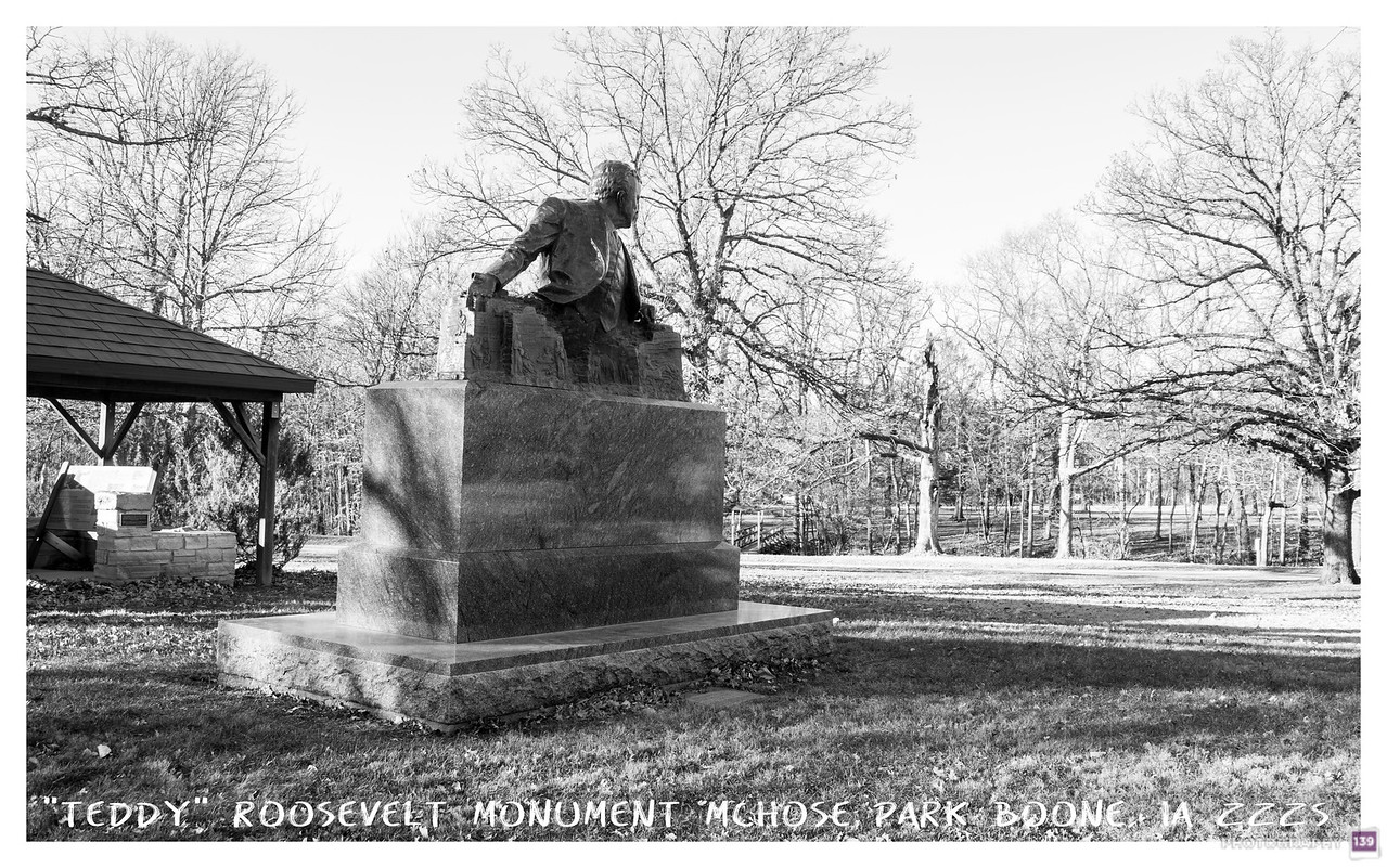 Teddy Roosevelt Statue - McHose Park - Recreation