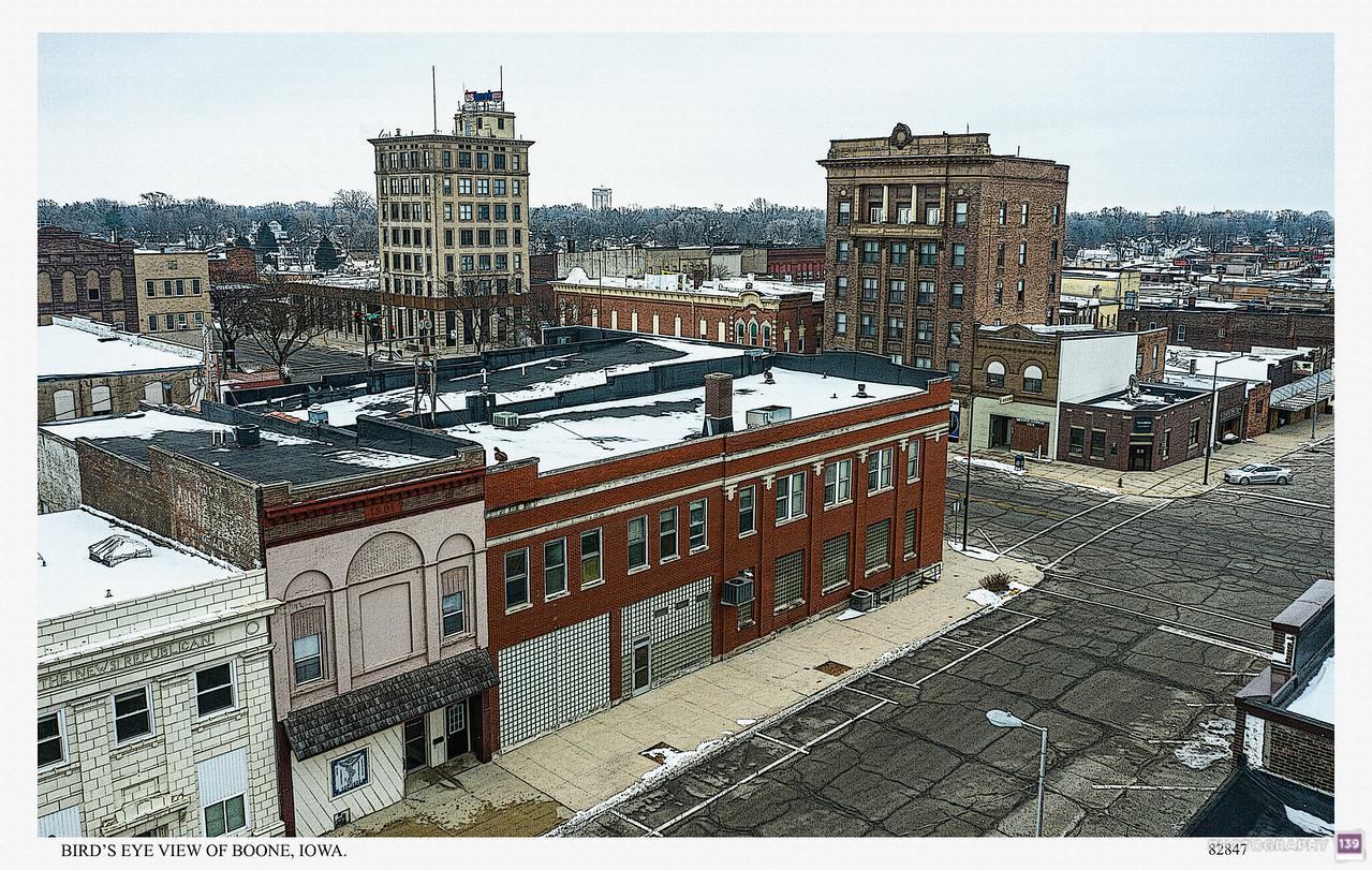 Bird's Eye View of Boone, Iowa - Redux