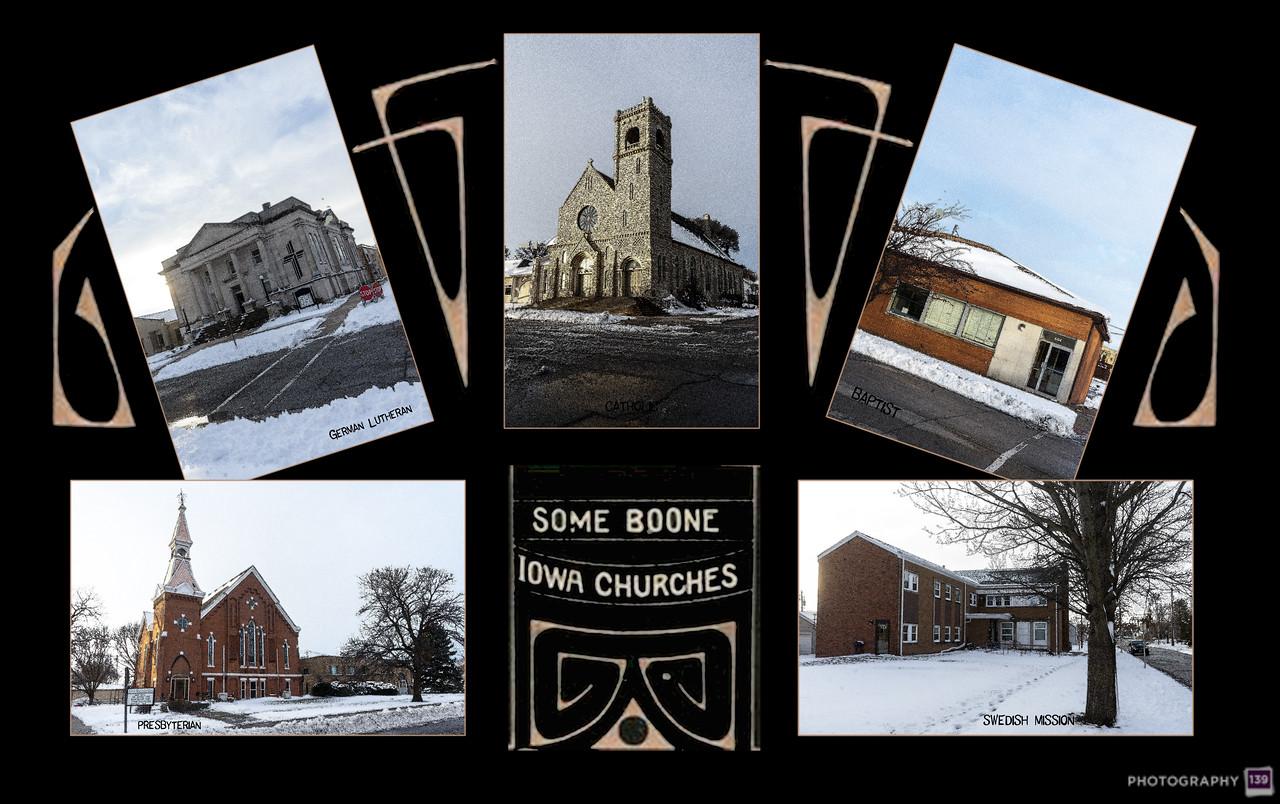 Some Boone Iowa Churches - Redux