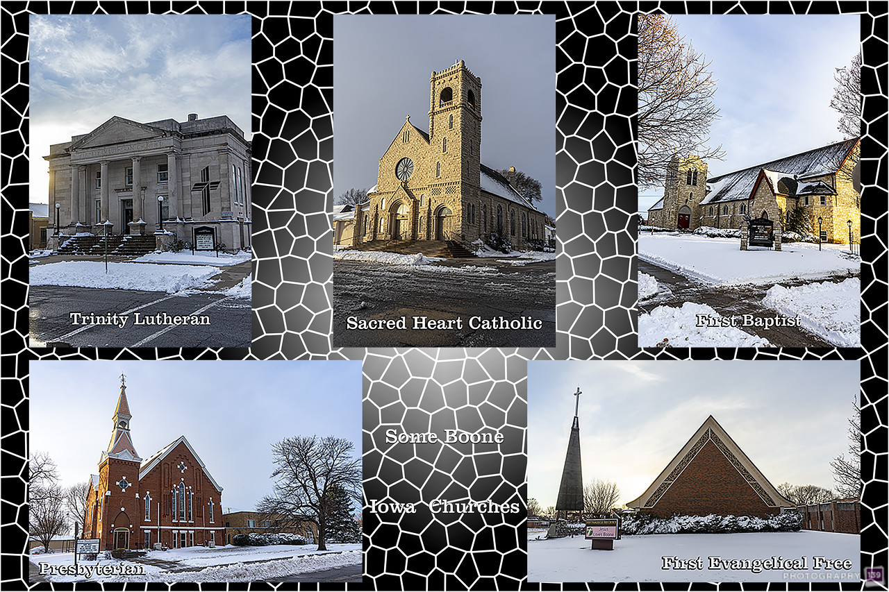 Some Boone Iowa Churches - Modern Interpretation