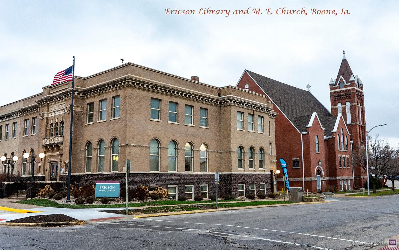 Ericson Library and M.E. Church, Boone, Ia. - Redux