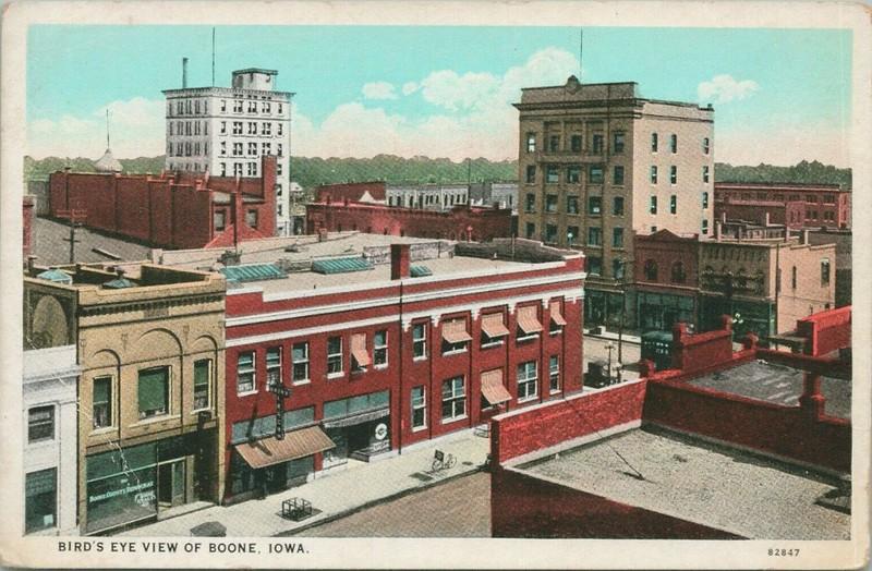 Bird's Eye View of Boone, Iowa - Original
