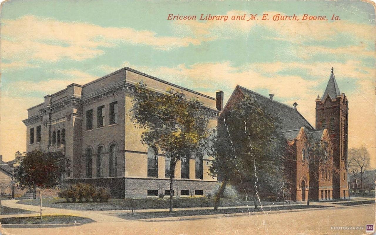 Ericson Library and M.E. Church, Boone, Ia. - Original
