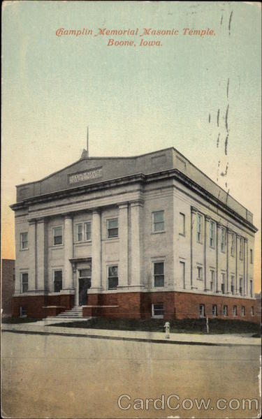 Champlin Memorial Masonic Temple; Boone, Iowa - Original