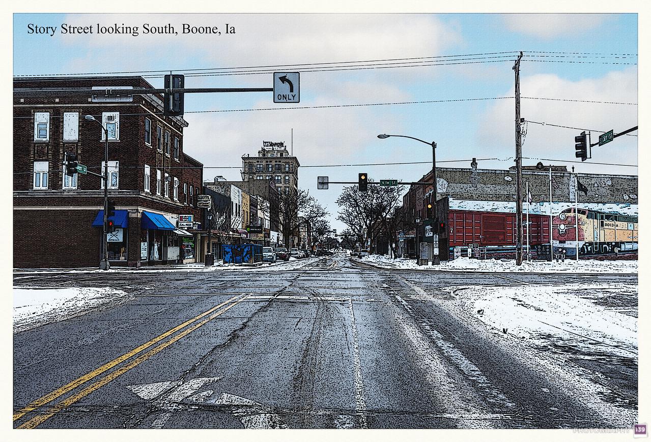 Story Street lookin South, Boone, Ia - Redux