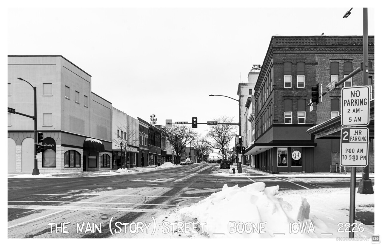 The Main (Story)Street, Boone, Iowa - 2226 - Redux