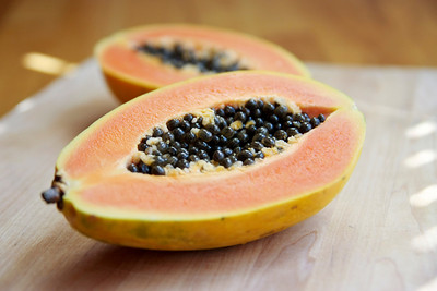 Cut Papaya