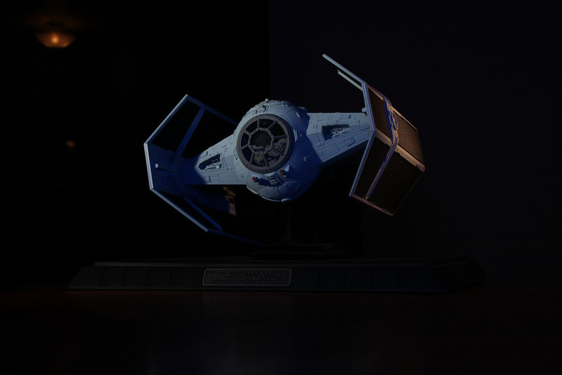 A good friend of mine gave me this amazing Darth Vader TIE Fighter as a housewarming gift.  Thanks to Chromy and his photo skills, I think we got a pretty good shot of it.