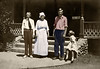 Family Outside Their House in Los Angeles ca 1919 - AFTER RESTORATION