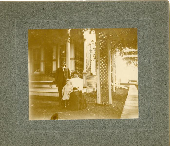 Georgie Yammer Family Photo  ca 1920 - Before Restoration