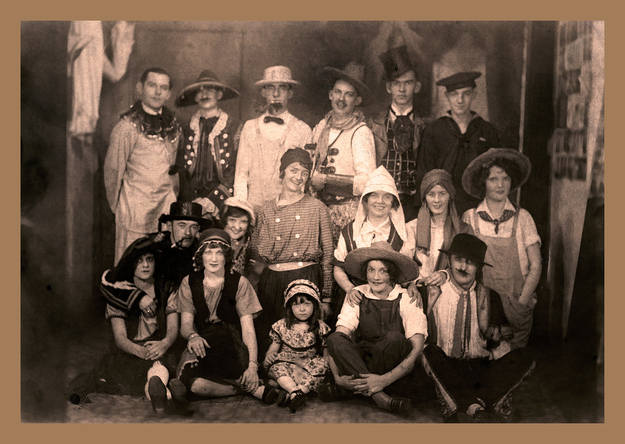 Pop and Friends in the 1920s - After  Restoration