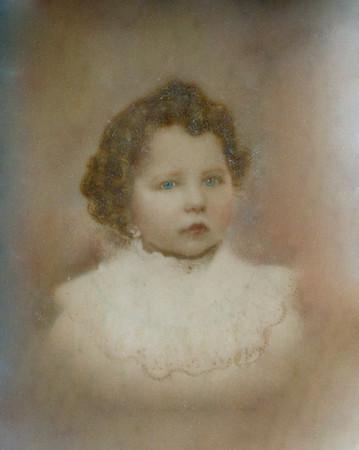 Elliott Evan's Grandmother on Glass restoration