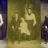 Hull Family Restoration & Colorization: The original photo shown in the center panel above dates from the early 1900s. It has faded and yellowed and is covered with scratches and stains. An intermediate product in the digital restoration of this photo is shown in the left panel above and the final colorized restoration is shown in the right panel.
