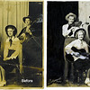 """This photo of the """"Carolina Crakerjacks"""" from the 1930s was restored digitally by making color and level adjustments to correct for yellowing and fading and by applying cloning and interpolation tools to eliminate folds, tears, scratches and stains."""