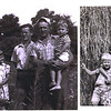 A family friend had this photo (left above) of her grandmother as a young girl with her siblings, father and an unknown man (center). She asked if I could eliminate the unknown man from the photo. I used cloning tools to reposition the father and young boy behind the three children on the left and cropped the photo to create a nice family portrait. I also lightened the photo to enhance its appearance when printed.