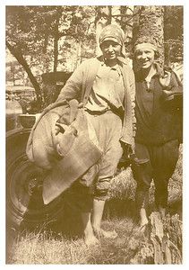 Gladys and Vera (sisters). Clam Digging trip, 192?