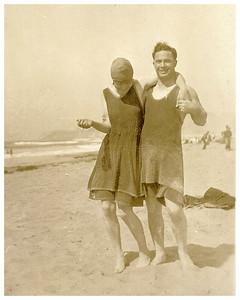 Gladys Battles (Vera's sister) and Harold Harrington. 192?
