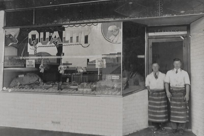 L A  Butchers Circa 1928 after_bw