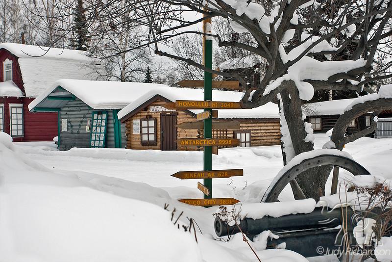 Original Log Cabins ~ Pioneer Park, Fairbanks, Alaska