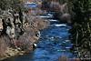 Deschutes River with bridge ~ Bend, Oregon