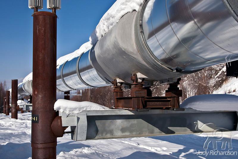 Pipeline reflections ~ Fox, Alaska