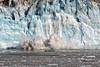 Hubbard Glacier calving ~ Sheets of ice continually coming down ~  Alaska