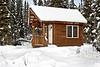 Log cabin in Fairbanks, Alaska