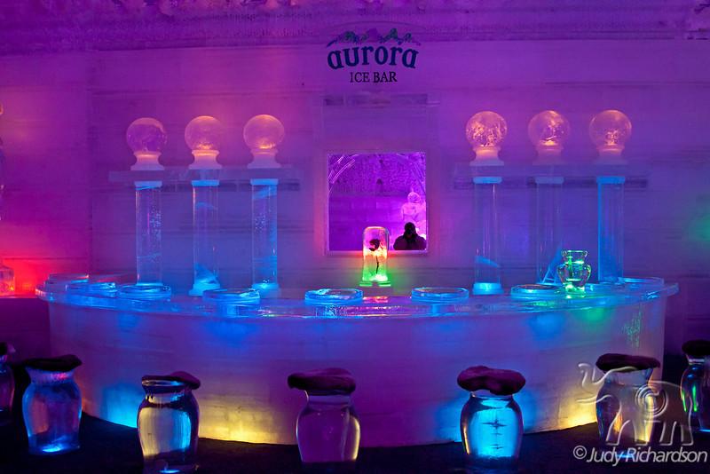 Ice Hotel bar ~ Chena Hot Springs, Alaska