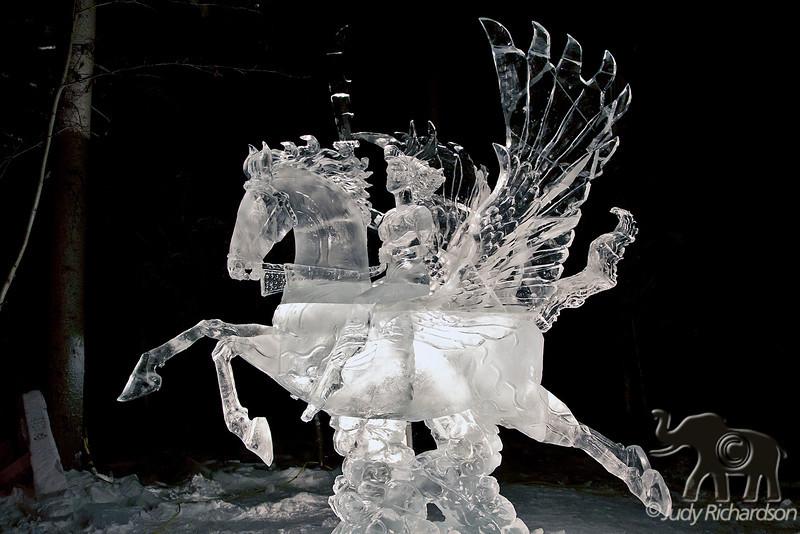 Single Block Ice Carving ~ World Ice Carving Championship ~ Fairbanks, Alaska