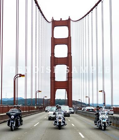 5158 Harleys at the Golden Gate