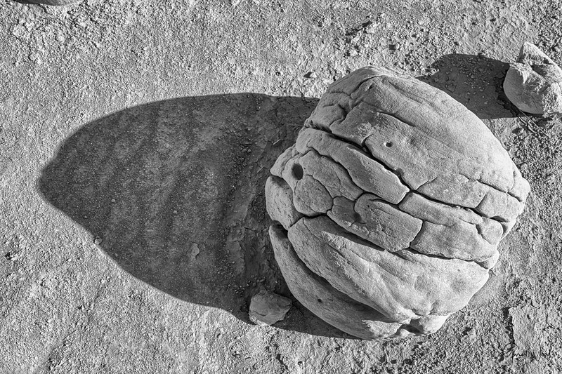 Concretion boulder rocks in desert Anza Borrego State Park