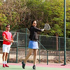 Tennis Coach is instructing a Student to Play Tennis