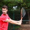 Male tennis player practice in tennis court in Dubai.