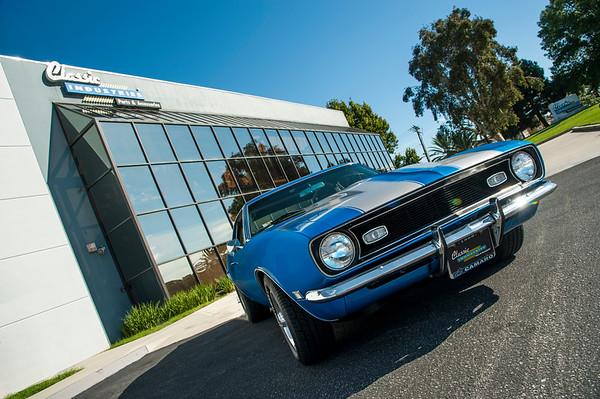 1968 Camaro Blue/Silver Stripes