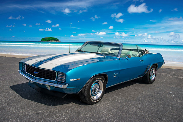 1969 Camaro Convertible Blue
