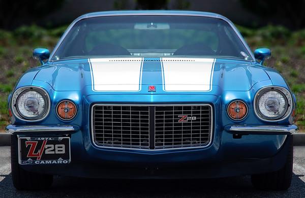 1971 Camaro Z/28 Blue/White Stripes