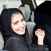 Emarati Arab Business women in the car in Dubai, United Arab Emirates.