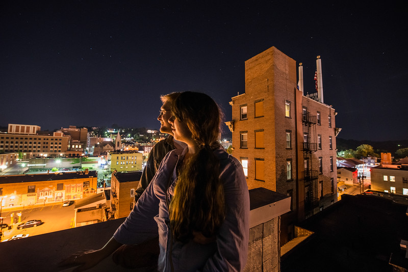Sam and Carmen atop Morgantown_photos by Gabe DeWitt_June 07, 2014-1