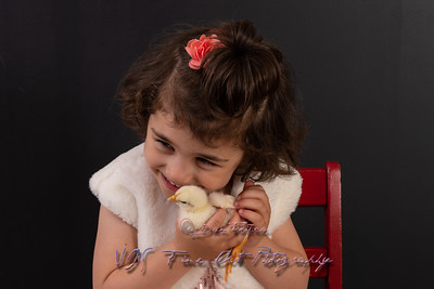 Little Girl Holding Yellow Chick