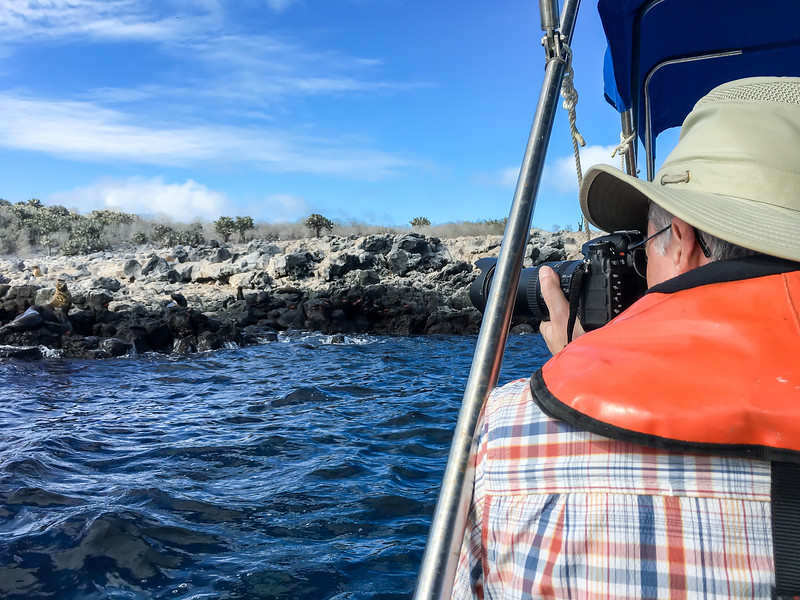 Joe Shooting from Glass Botton Boat