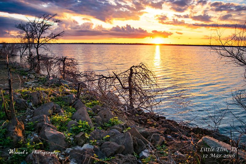 Little Elm Sunset - 12Mar16