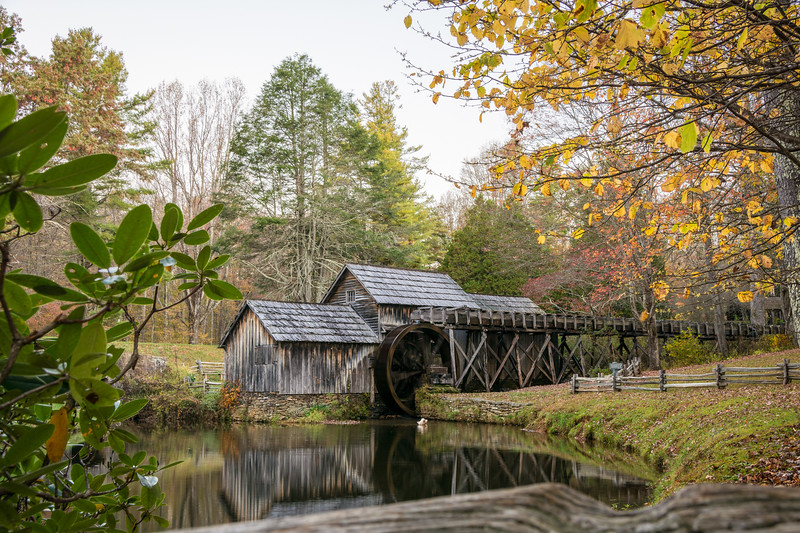 Dusk at Mabry Mill