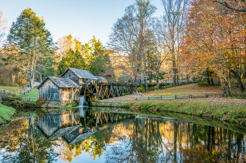 Dawn at Mabry Mill